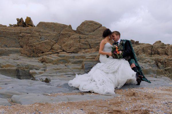 Rural rustic wedding venue Scotland